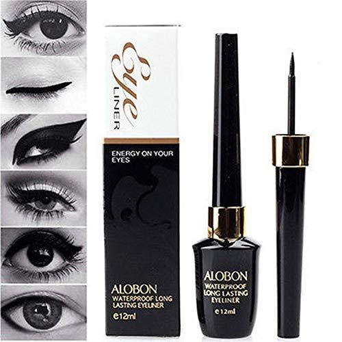 Cooljun Mignon Imperméable Noir Liquide Eyeliner Stylo Maquillage Cosmétique Noir 12 ml