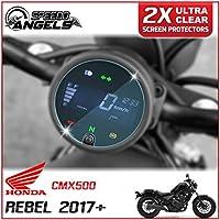 Speedo-Angels 2 x Honda Rebel CMX500 (2017>) Velocímetro/Speedo/Tacho Protector de pantalla - Ultra Transparente