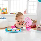 Fisher-Price DYM76 Laugh and Learn Sweet Manners Tea Playset, Toddler Role Play Tea Set Toy for Children with Educational Shape Sorter, Lights and Songs, Suitable 18 Months Plus