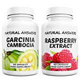 Garcinia Cambogia + Raspberry Extract High Strength Duo 120 Capsules High Quality Dietary Supplement by Natural Answers