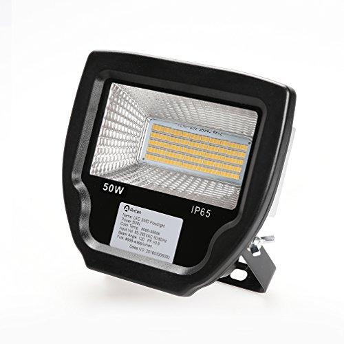 Anten® Hochwertig LED Außenstrahler Fluter Flutlicht 50W wasserdicht IP65 3900LM 2800-3200K Warmweiß SMD2535