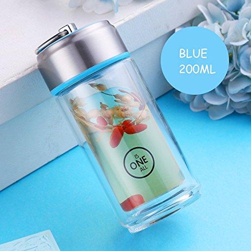 Si breve My bottiglia eco-friendly drink bottiglia di acqua in vetro con filtro per tè in acciaio I