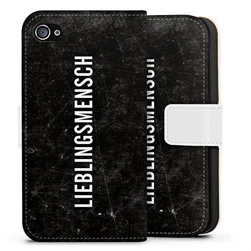 Apple iPhone X Silikon Hülle Case Schutzhülle Freundschaft Lieblingsmensch Statements Sideflip Tasche weiß