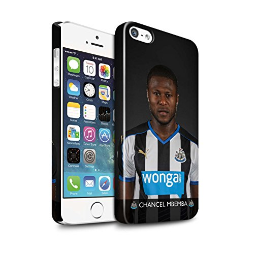 Offiziell Newcastle United FC Hülle / Glanz Snap-On Case für Apple iPhone SE / Lascelles Muster / NUFC Fussballspieler 15/16 Kollektion Mbemba
