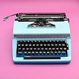Schreibmaschine blau | funktionsfähig | Geschenk blau