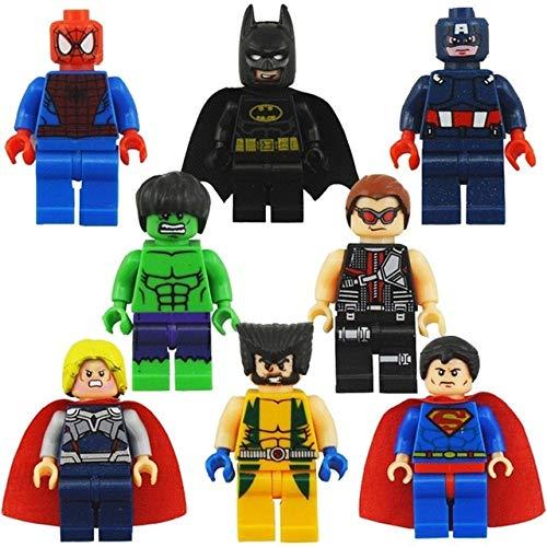 Marvel Avengers Superheld Minifiguren Iron Man Hulk Thor Batman Superman ()