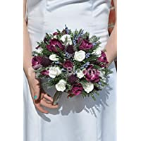 Fairytale Plum Anemone bouquet da sposa W/Pearl Handle - Anemone Bouquet Da Sposa