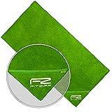 Fitzipp-Towel + wasserabweisende Reißverschluss Tasche 21x21cm, Fitness Handtuch 50×100 cm, schwarz - 2