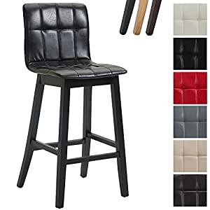 Clp bar stool bregenz with faux leather covers bar stool with backrest counter height chair - Bar height chair slipcovers ...