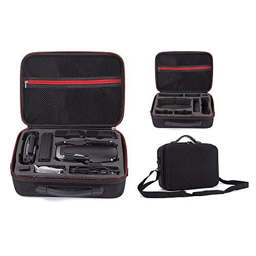 Kingwon Tragetasche für DJI Mavic Air,Tasche für Mavic Air Drone,Fernbedienung,Akkus, Ladegerät, Akkuadapter und Propeller Zubehör-1680D Oxford-Schwarz