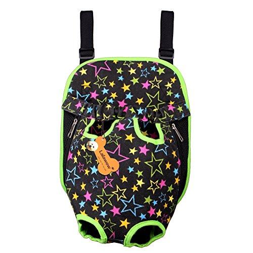 Lalawow animali Carrier pacchetto borsa di tela Pet Carrier Leggero vettore cane zaino facile entrare (Tela Sling)