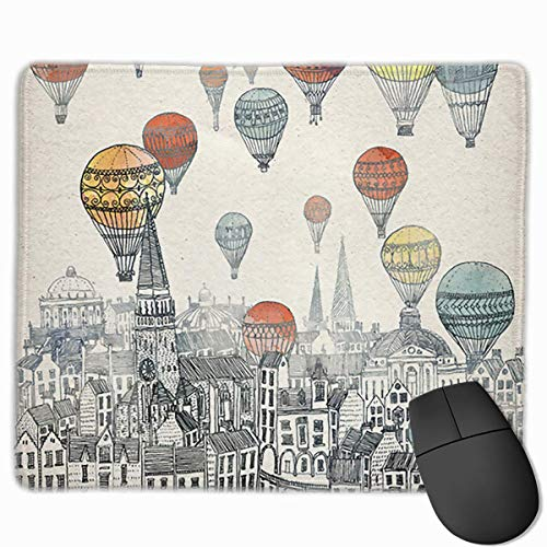Cartoon Hot Air Balloon Non-Slip Rubber Mouse Mat Mouse Pad for Desktops, Computer, PC and Laptops 9.8 X 11.8 inch (25x30cm)