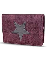 204ae2b1f286ee Damen Luxus Canvas Stern Geldbörse Geldbeutel Brieftasche Portemonnaie  Damenbörse Börse