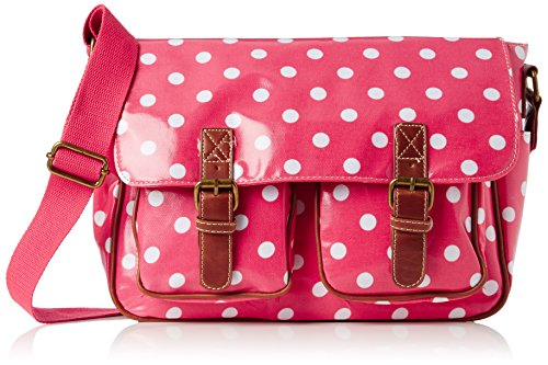 Swanky Swans Ashley Polka Dot, Damen Messengerbag, Rosa - rose - Größe: Large (Dot Polka Handtaschen Stoff)