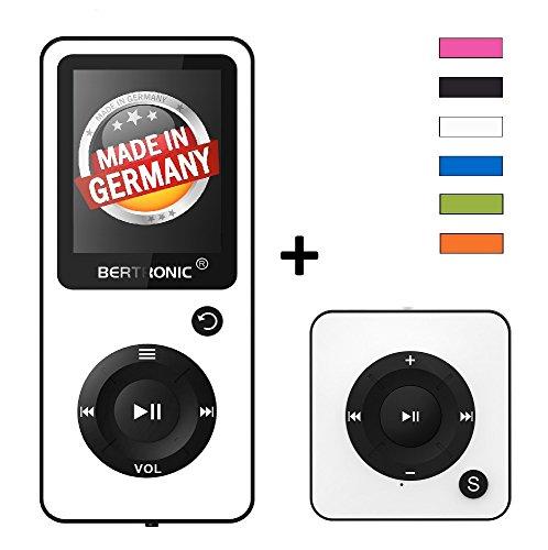 BERTRONIC Royal BC02 und BC05 MP3-Player ★ Bis 100 Stunden Wiedergabe ★ Farbdisplay ★ Radio | Portabler Player | Audio-Player für Sport mit Micro SD-Kartenslot