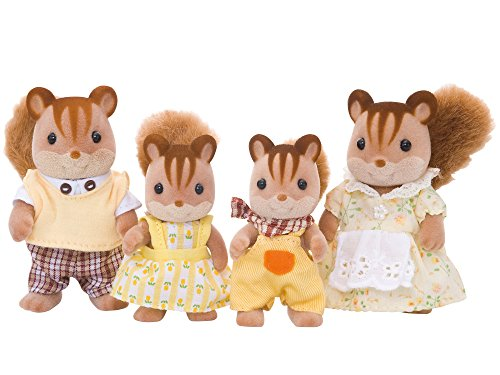Sylvanian Families Walnut Squirrel Family Mini muñecas y Accesorios, (Epoch 4172)