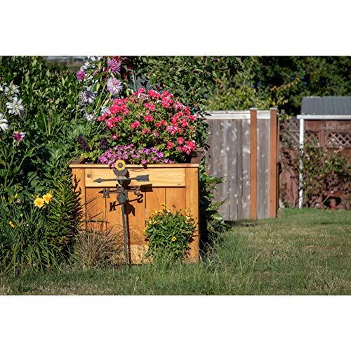 Cassisy 1,5x1m Vinyl Frühling Fotohintergrund Garten Wetterfahne Yard Art Pflanzer Box Rasen Blumen Fotoleinwand Hintergrund für Fotoshooting Fotostudio Requisiten Party Photo Booth -