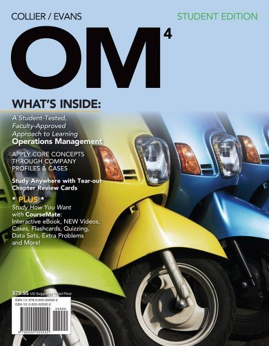 OM 4 (with Review Cards and CourseMate Printed Access Card) by Collier, David Alan, Evans, James R. (2012) Paperback