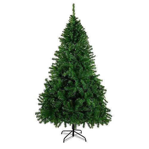 künstlicher Weihnachtsbaum Tannenbaum Christbaum grün mit Metallständer Bushy Weihnachtsdeko (1000 Zweige, 180 cm)