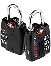 2 Pack【Open Alert】Indicator★Best TSA Approved Luggage Locks★4 Colors★3 Digit Combination★Theft Protection★ On...