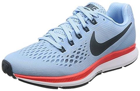 Nike Wmns Air Zoom Pegasus 34, Chaussures de Running Femme, Turquoise (Ice Blue/Blue Fox/Brt Crimson/White/Blue Tint), 38 EU