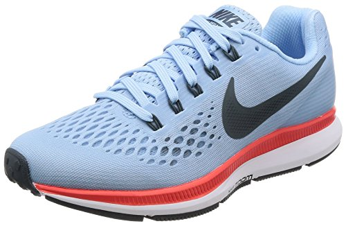 Nike Wmns Air Zoom Pegasus 34, Scarpe da Corsa Donna Turchese (Ice Blue/Blue Fox/Brt Crimson/White/Blue Tint)