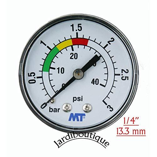 'Manometer ABS 840003 ABS für Filter Pool Befestigung Hinten Verbindungsstück Axial Manometer Gewinde 1/4 - MT - jardiboutique -