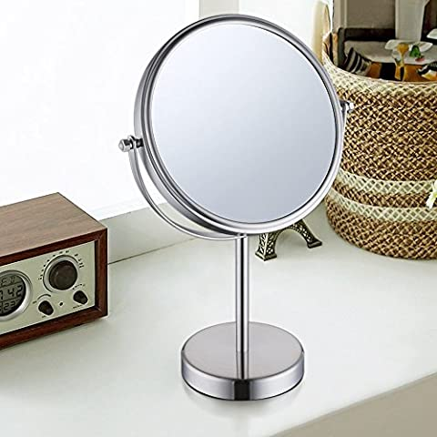 KES 8-Inch Two-Sided Makeup Mirror Tabletop Vanity Counter Top with