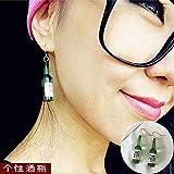 64728f52557b VVSBAOZI Crystal Pendientes Corea cara de la personalidad simple pendientes  delgados pendientes de temperamento pendientes pendientes