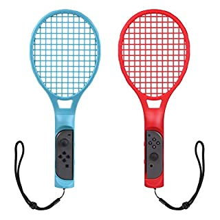 CHOETECH Tennis Racket for Nintendo Switch, Twin Pack Tennis Racket for Nintendo Switch Joy Con Controllers for Mario Tennis Aces