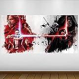 LagunaProject EXTRA GROßE Star Wars letzte Jedi Rey Kylo Ren Fantasy Vinyl Sticker Poster Wandsticker Wandtattoo Wandbild Wanddeko -140cm x 70cm