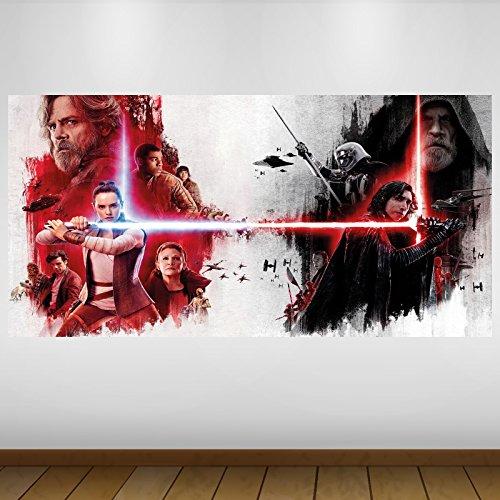 EXTRA GRANDE Star Wars Jedi Último Rey Kylo Ren de vinilo de fantasía Póster...