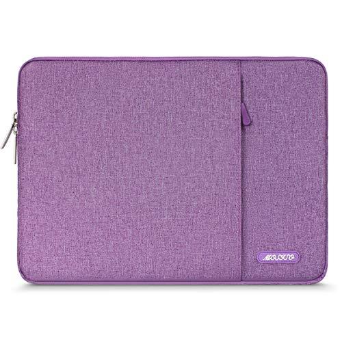 MOSISO Hülle Kompatibel iPad Air 3 10,5 2019, 9,7-11 Zoll iPad Pro, Surface Go 2018, iPad Air 2/Air (iPad 6/5), iPad 1/2/3/4 Wasserabweisende Polyester Vertikale Laptoptasche, Licht Violett