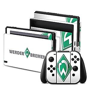 DeinDesign Nintendo Switch Folie Skin Sticker aus Vinyl-Folie Aufkleber Werder Bremen Fanartikel Football