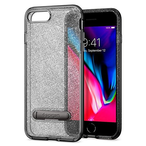 Coque iPhone 7 Plus, Spigen® [Crystal Hybrid Glitter] PREMIUM BUMPER [Space Quartz] Flexible Inner Casing and Reinforced Hard Bumper Frame Housse Etui Coque Pour iPhone 7 Plus (2016) - (043CS21214) CHG Noir de jais