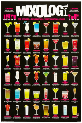 1art1 49075 Cocktails – Mixology Poster (91 x 61 cm)