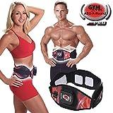 Gymform Abs-a-Round Pro Bauchmuskel EMS-Gürtel original aus dem TV - Sport Console mit 6 Programmen und 99 Intensitätsstufen inkl. Mini-Gürtel und 6 Elektrodenauflagen Gr. S/M