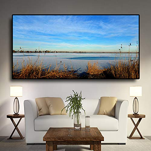 Freshwater Marsh Nature Landscape Painting Poster