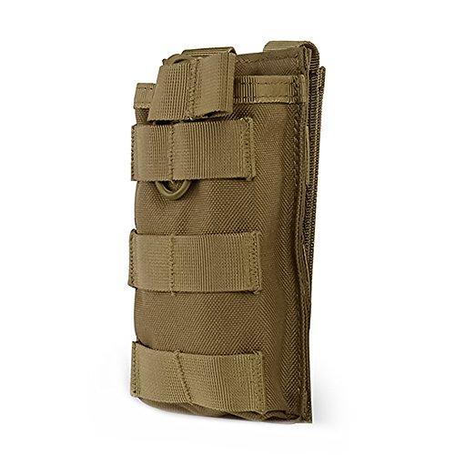 OUTRY MOLLE Magazintasche, oben-offen Mag Halter für M4 M16 AR-15 Magazin (Single - Khaki)