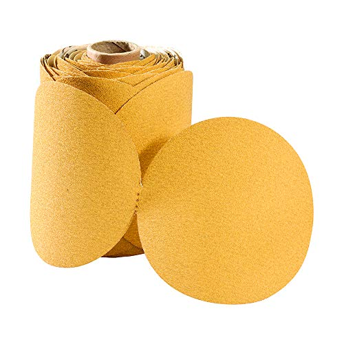5320 No Hole PSA Aluminum Oxide Stearated Sanding Discs, 5 inch, Grit 320C (100 disc roll) ()