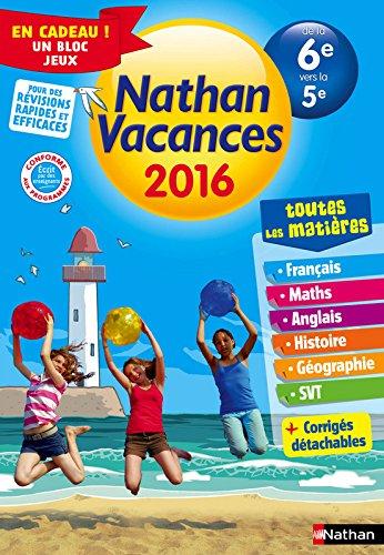 Nathan Vacances Collège - De la 6e vers la 5e par Denis Anton, Michel Jardonnet, Jacques Marcelin, Pierre Colin