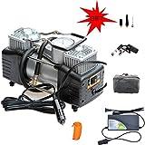 Reifen-Luftpumpe, Tragbarer Luftkompressor 12V Mit LED-Reifen-Druckanzeiger,3 Hohe Luftmassen-düsen Und Adapter Für Aufblasbare Fahrrad-basketball-größe Des Auto-suv