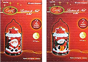 Noel orion lanterne de noel lumineuse pere noel bonhomme for Decoration de noel amazon