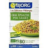Bjorg - Céréales & légumes secs orge épeautre lentilles pois bio - Les 2 sachets de 165g - Pirx Unitaire - Livraison...