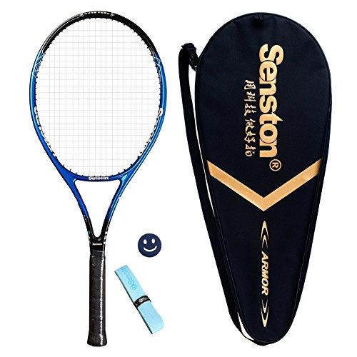 Senston Damen/Herren Tennisschläger Tennis Schläger Set mit Tennistasche,Overgrip,Vibrationsdämpfer - 6 Farbe