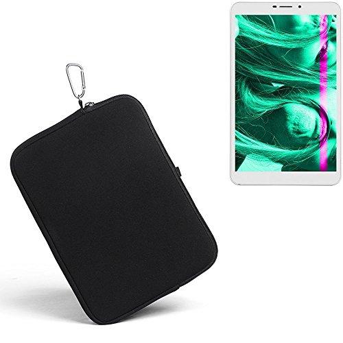 K-S-Trade® für Kiano Slimtab 8 3G Neopren Hülle Schutzhülle Neoprenhülle Tablethülle Tabletcase Tablet Schutz Gürtel Tasche Case Sleeve Business schwarz für Kiano Slimtab 8 3G