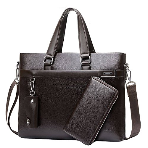 Männer Business Bag Bag Handtasche Querschnitt Aktentasche Business Bag Casual Bag Umhängetasche Messenger Bag Brown