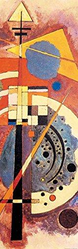 Kandinsky Kunst Poster (1art1 81746 Wassily Kandinsky - Hommage An Grohmann, 1926, 1-Teilig Selbstklebende Fototapete Poster-Tapete 240 x 75 cm)