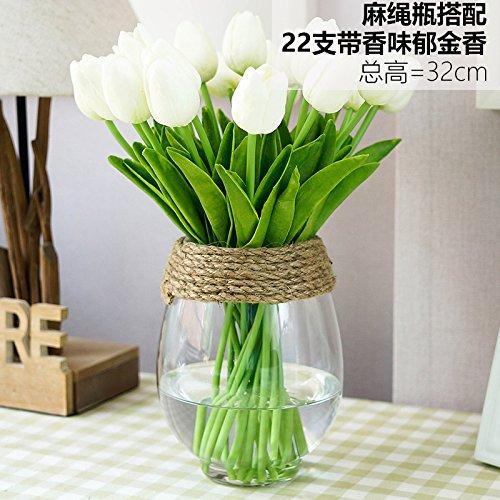 JHDH2-tulip vasi ellisse kit di vetro trasparente di fiore di emulazione il pacchetto B