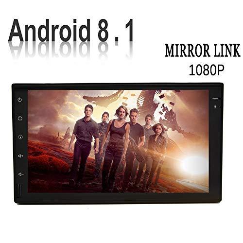 Android 8.1 Audio Radio Receiver mit 7-Zoll-Multi-Screen-Unterst¨¹tzungs-GPS-Navigation WiFi 3G 4G Spiegel Link-AM FM RDS OBD2 USB SD-1080P Video Bunten Knopf Licht R¨¹ckfahkameraeingangs (enthalten)